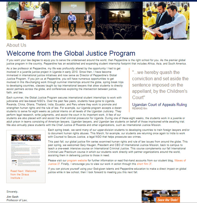 Global Justice Welcome