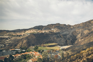 Pepperdine campus after the 2018 Woolsey fire