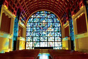 Stauffer Chapel Interior - Stained Glass