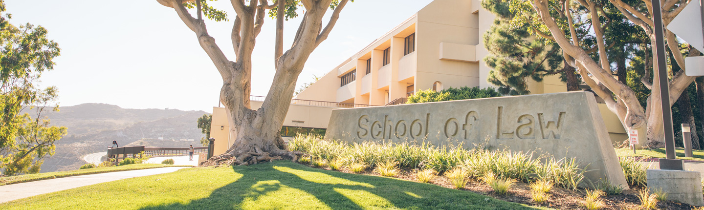 pepperdine school of law sign