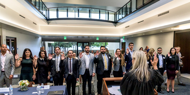 Pepperdine Law graduates sworn into the California Bar