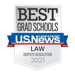 US News Best Grad Schools badge for Dispute Resolution