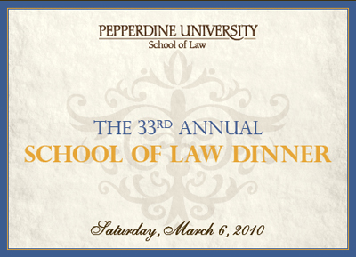 33rd Annual Law Dinner
