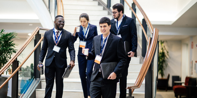 Events at Pepperdine Law - students at trial lawyers conference