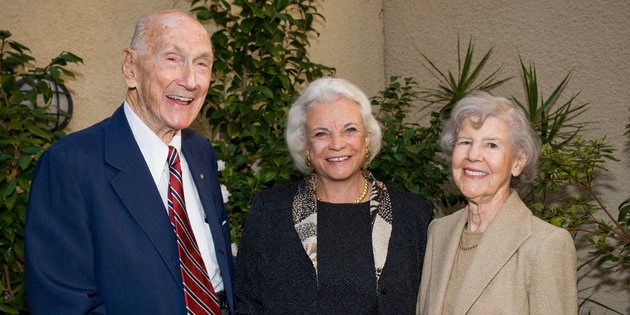 Herbert and Elinor Nootbaar with Justice Sandra Day O'Connor