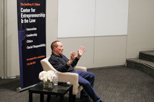 Geoff Palmer speaking at Pepperdine Caruso School of Law