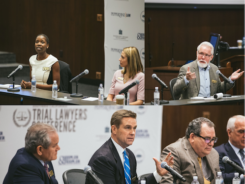 Speakers discuss at the annual Trial Lawyers Conference