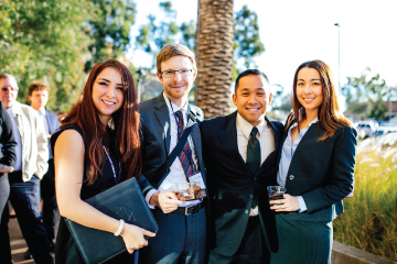 Group of law students at last year's Trial Lawyers Conference
