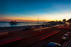 Malibu Pier at sunset