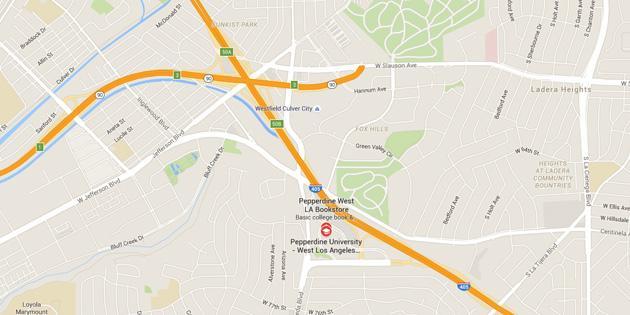 Map of Pepperdine West LA
