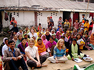 Representatives from the Palmer Center visited with Grameen Bank micro-loan recipients in Dhaka, Bangladesh