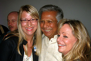 Dr. Muhammad Yunus with Melanie Howard and Professor Kerr