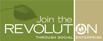 revolution through social enterprise logo