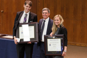 The Parris Awards - Professor Shultz with award recipients