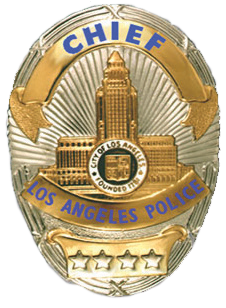 LAPD Chief Badge