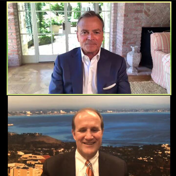 Rick Caruso and Jim Gash on zoom screen