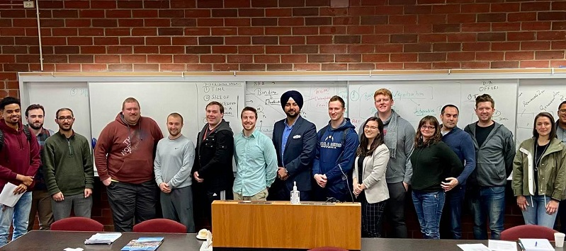 Professor Singh with Oregon students
